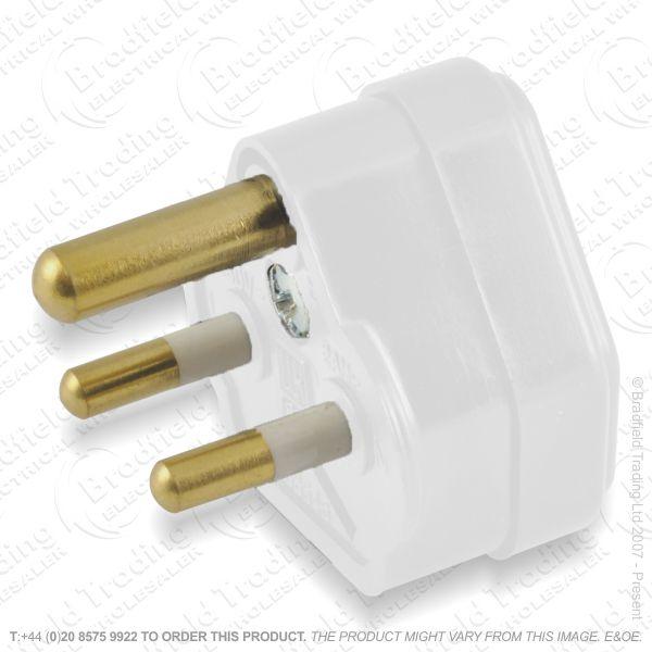 F02) Plugs Round 3pin 5A Nofuse white A09