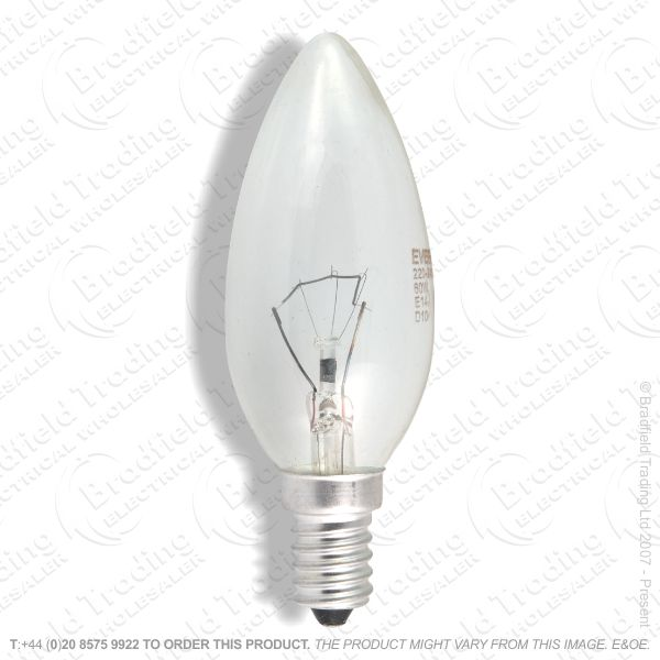 A04) Candles 35mm E12 CES clear 60W
