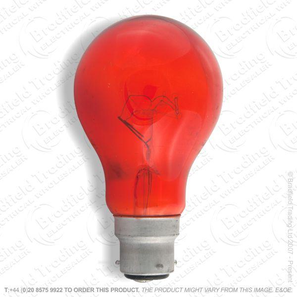 A03) GLS fireglow BC 3pin 60W CRO