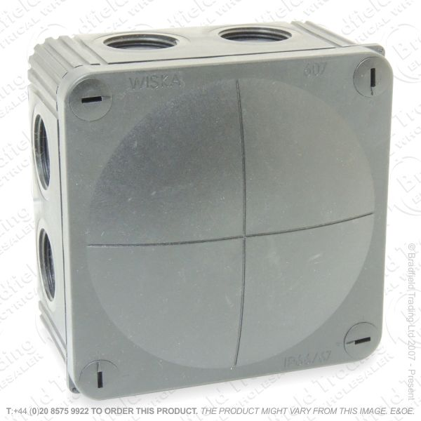 H24) 40A Junction Box 110x110x66 BL