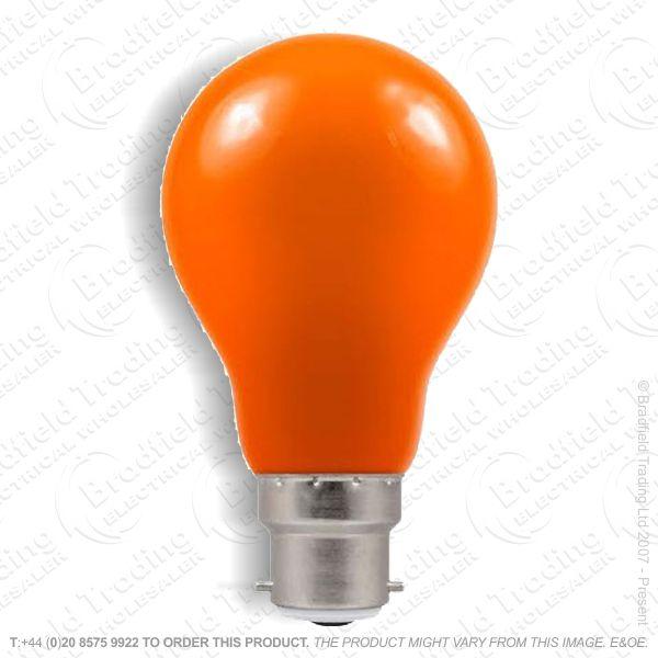 A02) GLS col BC amber 60W CRO