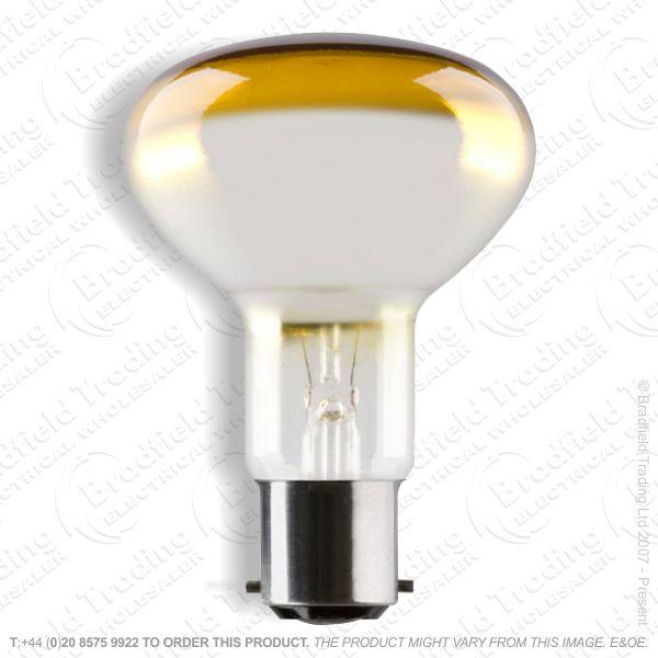 A09) Reflector R80 col BC amber 60W CRO