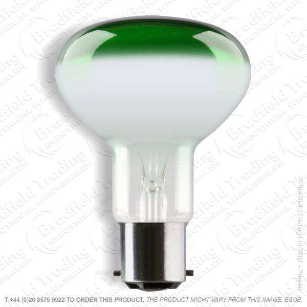 A09) Reflector R80 col BC green 60W CRO