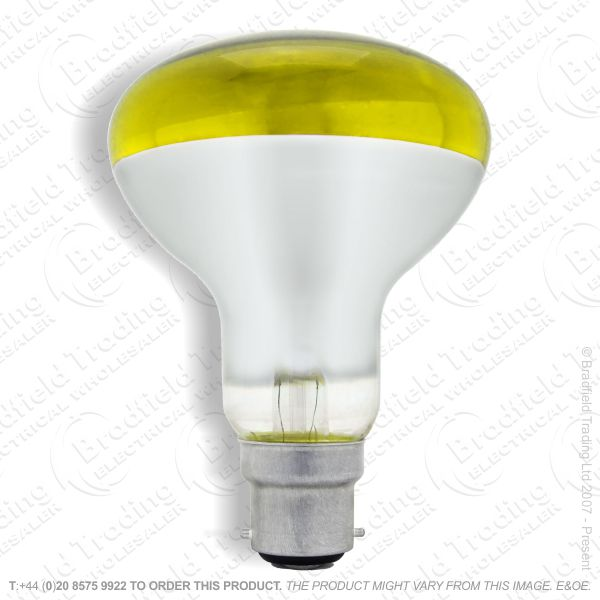 A09) Reflector R80 col BC yellow 60W CRO