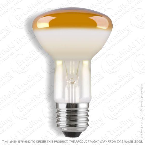 A09) Reflector R80 col ES amber 60W CRO