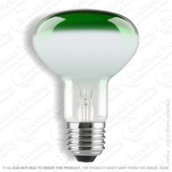 A09) Reflector R80 col ES green 60W CRO