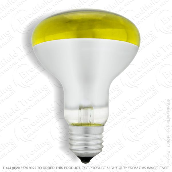 A09) Reflector R80 col ES yellow 60W CRO