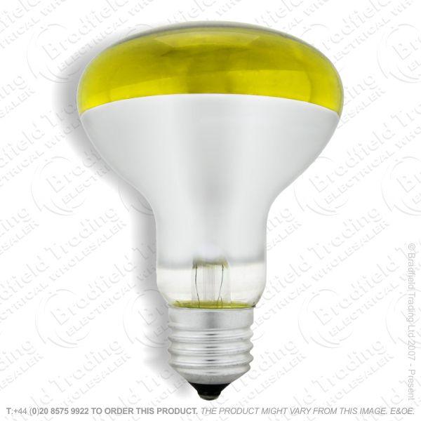 A09) Reflector R80 col ES yellow 60W CRO