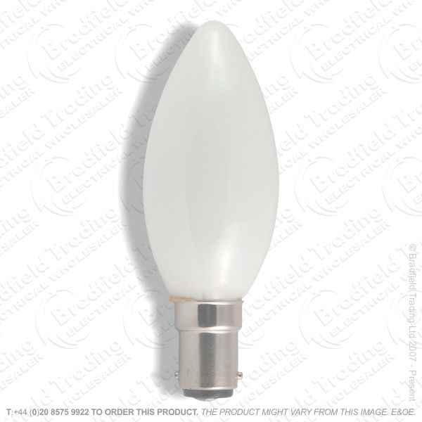 A05) Candle 45mm SBC Plain Opal 60W BEL