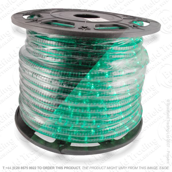 D14) Ropelight Flex Static green 1 Meter