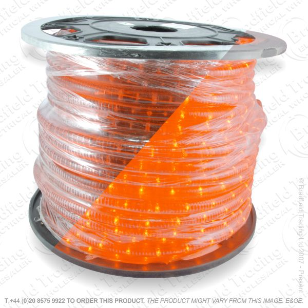 D14) Ropelight Flex Static Orange 1 Meter