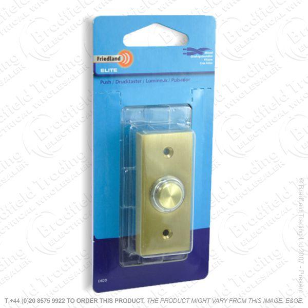 I02) Door Bell Push Elite brass FRIEDLAND