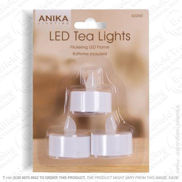 D12) Flickering Tealights 3pk ANIKA