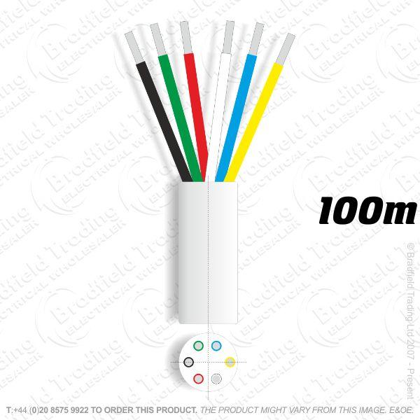 H08) Alarm Cable 8 core 100M White