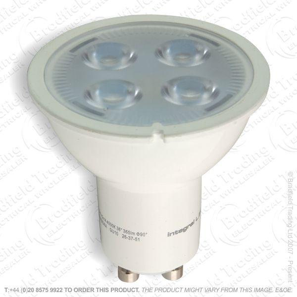 A37) LED 5.5W GU10 4000K White 385lm DIMM