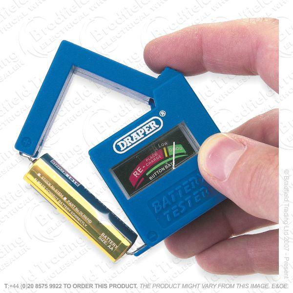 G52) Tester Battery 1.5v 9v DRAPER