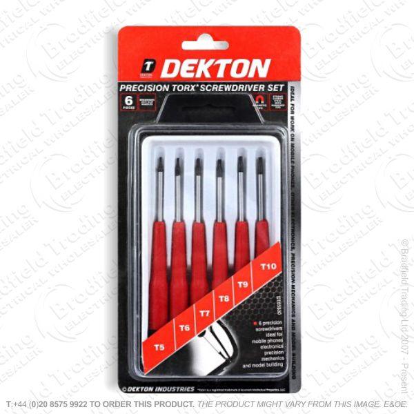 G34) Precision Torx Screwdriver Set 6pc DEKTO