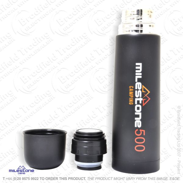 C02) Flask S/S 500ml Black ECO