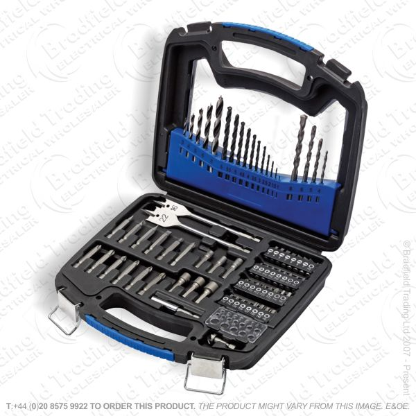 75pc Drill Bit and Accessory Kit Set DRAPER