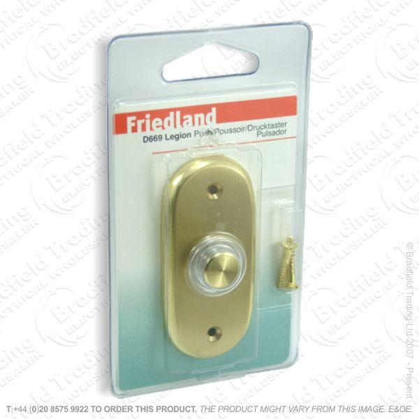 I02) Door Bell Push Legion brass FRI