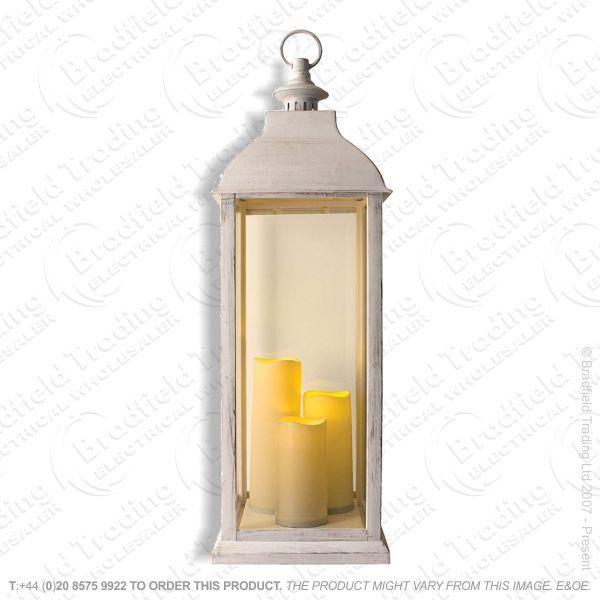 71cm Cream Lantern Battery op ANIKA