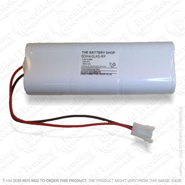 E12) Battery Rech Emergency 7.2V 4Ah SidebySi