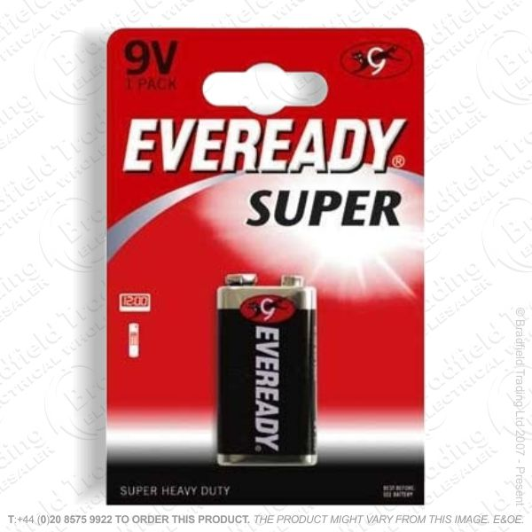E06) Battery PP3 9V Super Bx12 EVEREADY