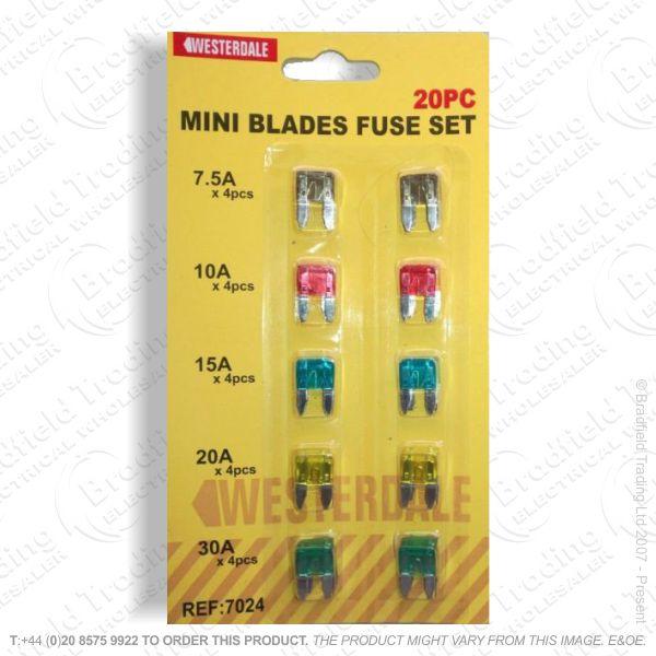 F12) Fuse Mini Blade Type Assorted Car (20)
