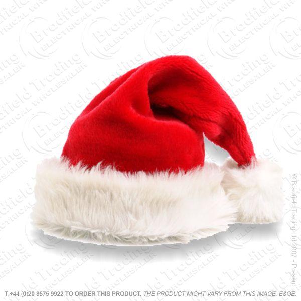 D12) 18  Luxury Xmas Hat Red