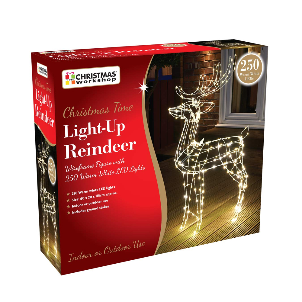 Xmas Lights LED Reindeer 155cm Tall