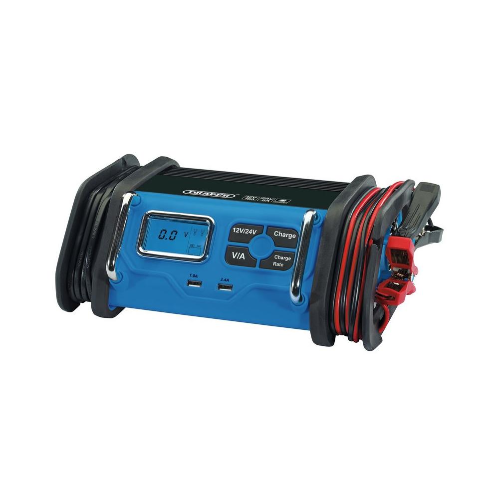 Car Battery Charger 12V/24V Gel AGM DRAPER