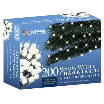 D09) Xmas Lights 200 LED Warm White Chaser