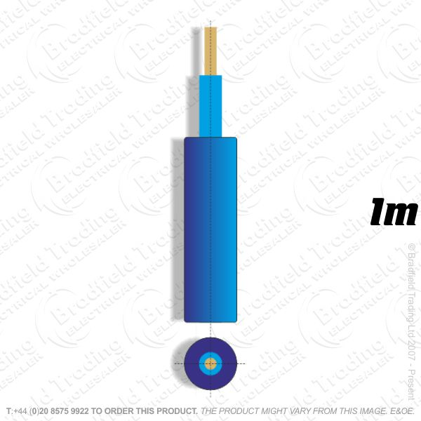 H05) Meter Tails 70mm Blue **1M**