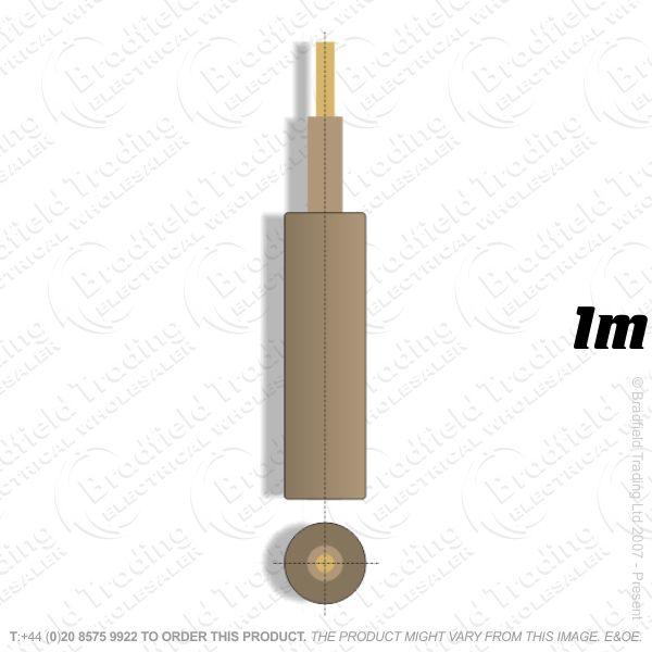 H05) Meter Tails 70mm Brown **1M**