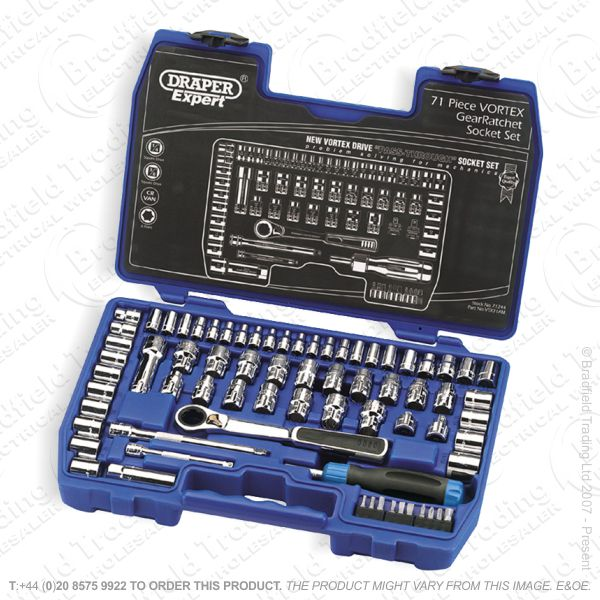 G37) Socket Set Vortex 71pc DRAPER