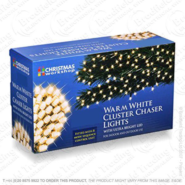 D09) 288 LED Cluster Lights Warm White XMAS