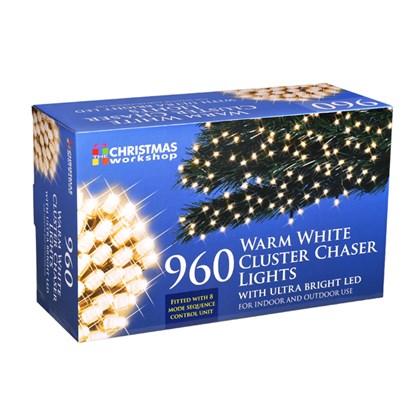 D09) 960 LED Cluster Lights Warm White XMAS