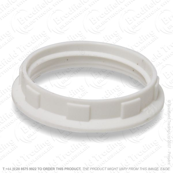 B06) Lamp Holder Shade Ring white only