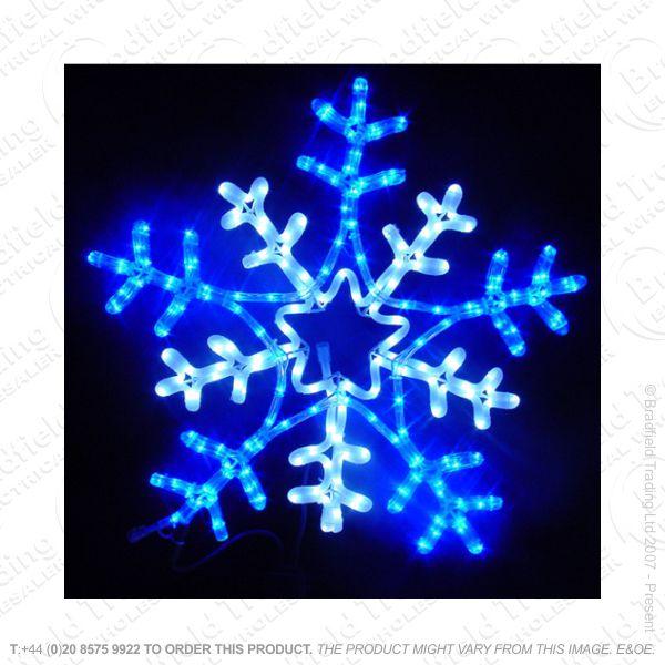 D12) 5M LED Blue/White Snowflake Xmas Light