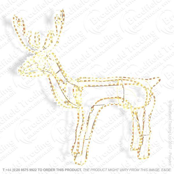D09) Xmas Lights Reindeer 9M Rope Light