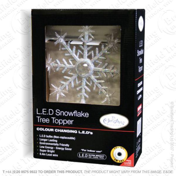D12) LED Snowflake Lights Battery