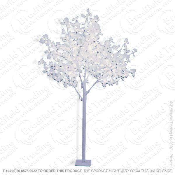 D11) Xmas 2.5m Leafed Tree 320led Warm White