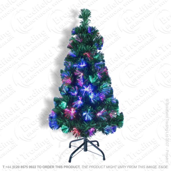 D11) Xmas 4ft/120cm Green Tree Fibre
