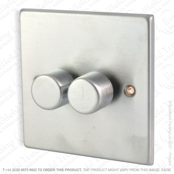 I36) Dimmer Inteligent LED 2G 100W Stainless