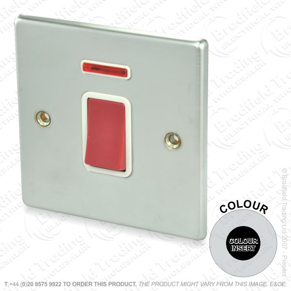 I37) Hamilton 74 45a D/Pole Switch NEONSS