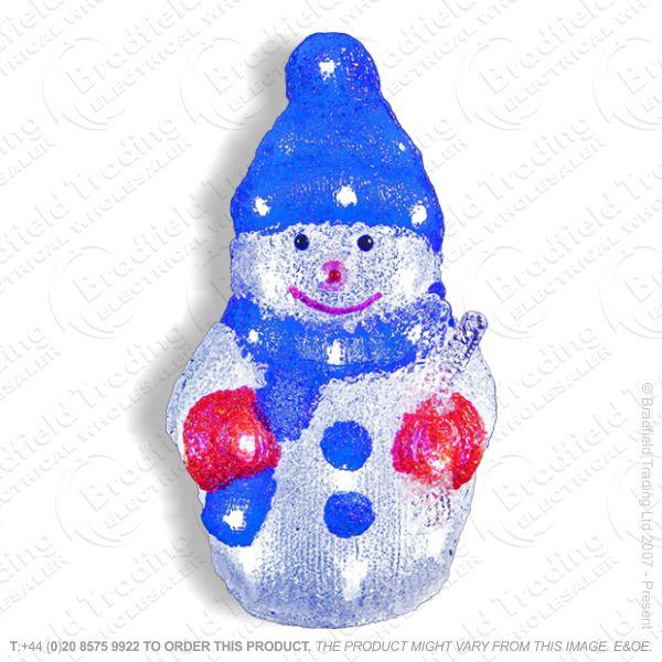 D12) 30cm 24 LED Acrylic Snowman Xmas Light