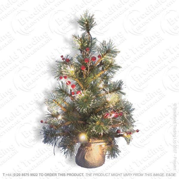 D11) 60cm B/O LED Xmas Tree Warm White