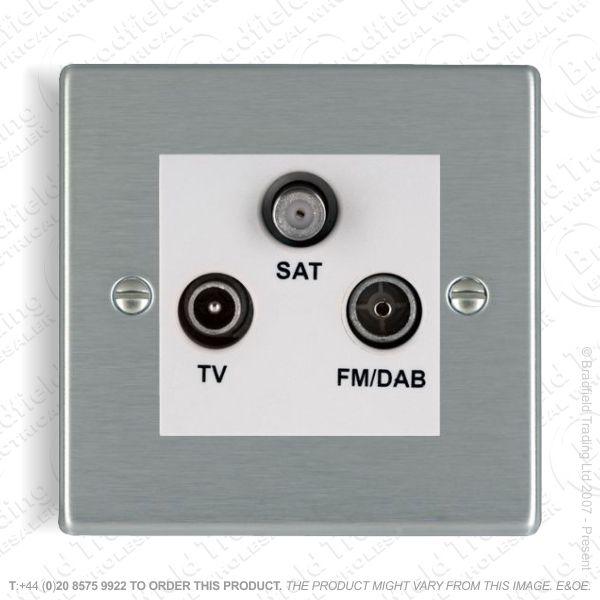 I38) Hamilton 74 TV/FM/SAT Triplexer Socket