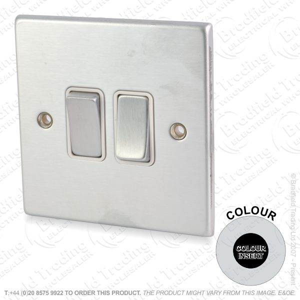 I36) Hamilton 74 2Gang Switch SS/BL