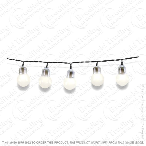 D08) Xmas Party Lights 50 LED Warm White